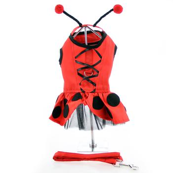 Lady Bug Fairy Dog Costume Harness Dress w/ Antennae and Leash at Doggie Design  sc 1 st  Doggie Design & Lady Bug Fairy Dog Costume Harness Dress w/ Antennae and Leash at ...